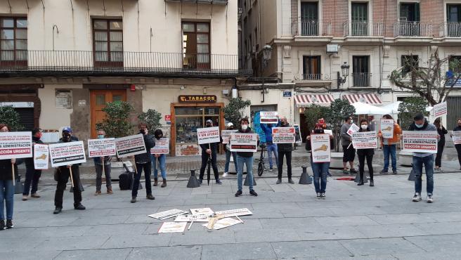Protesta de l'oci nocturn en la Plaça de Manises