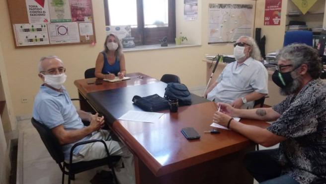 Reunión de Eva Oliva con la Asociación Amigos del Parque Amate