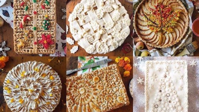 Algunos de los pasteles elaborados por Helen Nugent.