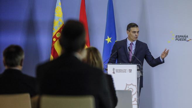 Pedro Sánchez interviene en la presentación del Plan de Recuperación.