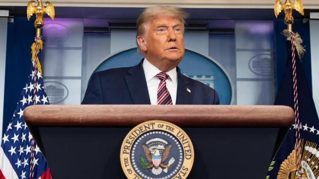 El presidente de EE UU, Donald Trump, durante su comparecencia en la Casa Blanca dos días después de las elecciones.
