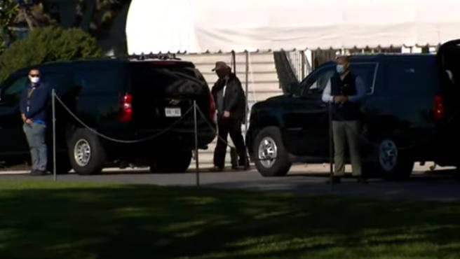 Donald Trump, en su club de golf de Virginia instantes antes de conocerse su derrota electoral.