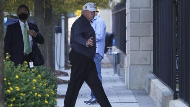 El presidente saliente de EE UU, Donald Trump, a su llegada a la Casa Blanca tras jugar al golf en su club de Virginia.