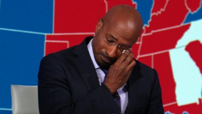Van Jones, llorando en directo en la CNN.