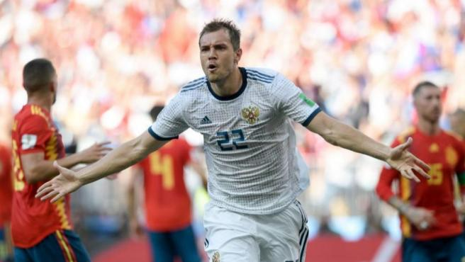Artiom Dzyuba, capitán de Rusia.