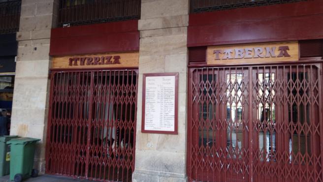 Bar cerrado en Bilbao