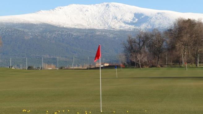 Un green del campo de golf La Faisanera, en Palazuelos de Eresma (Segovia).