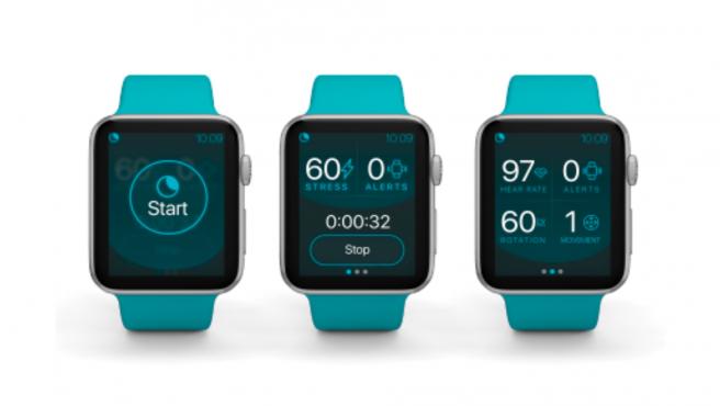 NightWare es una aplicación en un Apple Watch que ayuda a las personas que sufren pesadillas traumáticas a dormir mejor por la noche
