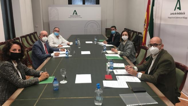 Reunión de alcaldes de municipios beneficiados por la futura EDAR Norte