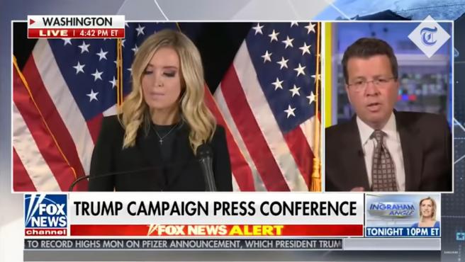 Fox News corta una comparecencia de la portavoz de Trump por sus denuncias de fraude electoral.
