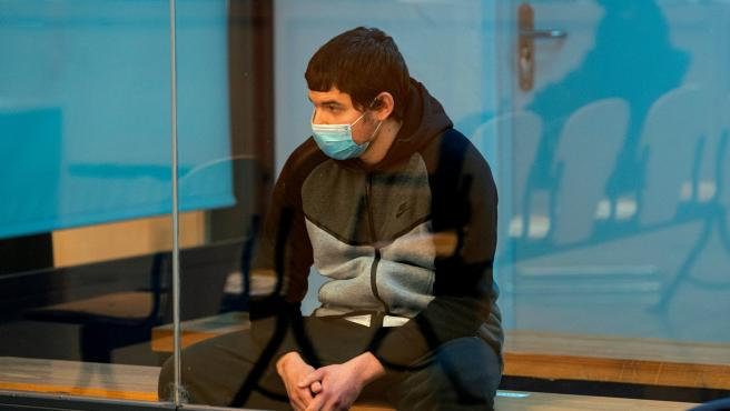 Mohamed Houli, al inicio del juicio sobre los atentados de Barcelona y Cambrils. (10/11/2020)