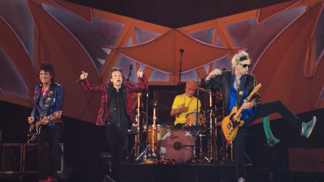The Rolling Stones, durante una actuación de Madrid en 2014.