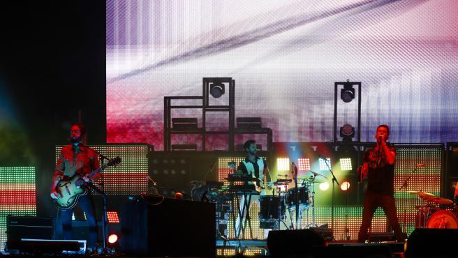 El grupo Vetusta Morla, durante un concierto en 2019.