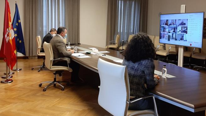 El Presidente De La Diputación De León, Eduardo Morán, Preside La Comisión Mixta Del Consorcio Patronato Provincial De Turismo De León Desarrollada Este Miércoles De Manera Telemática.
