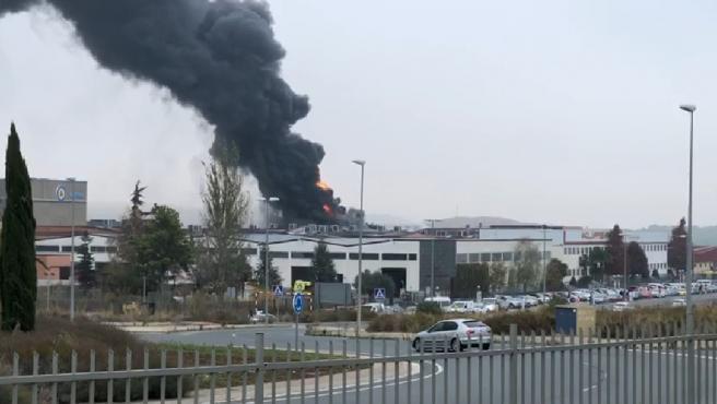 Incendio en una empresa química de Oyón (Álava)