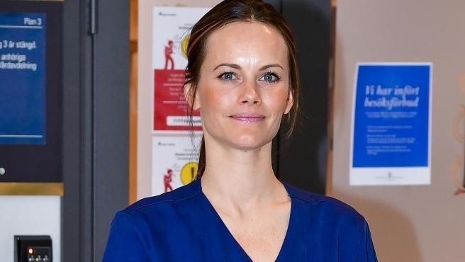 La princesa Sofía de Suecia en su labor como enfermera.