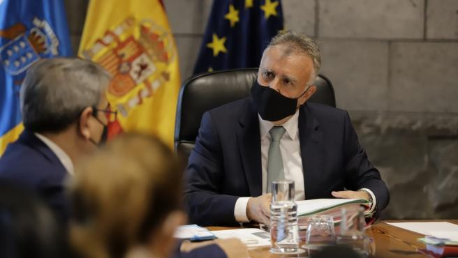 El presidente de Canarias, Ángel Víctor Torres, presidente el Consejo de Gobierno de este jueves