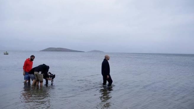Imagen de la grabación de 'Porvenir' en el Mar Menor