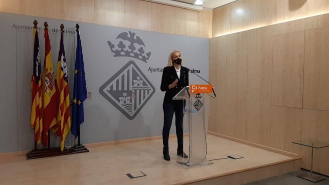 La portavoz de Cs en el Ayuntamiento de Palma, Eva Pomar.