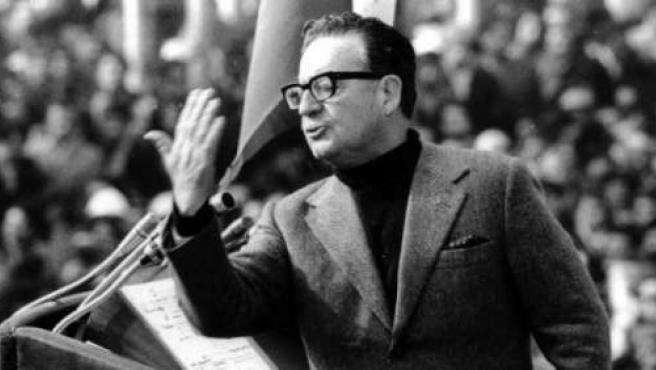 Salvador Allende, durante un discurso.