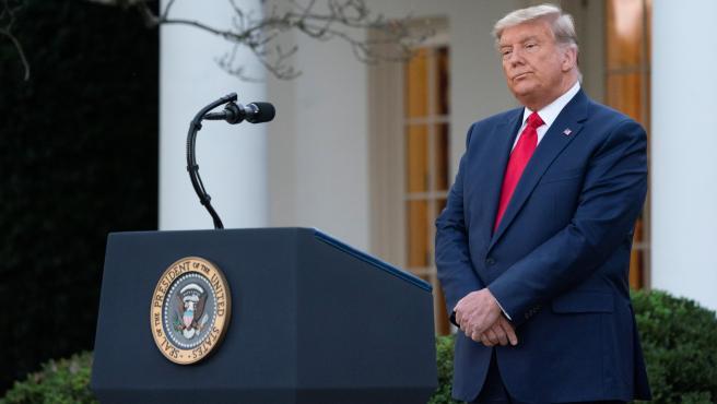 Donald Trump, en su primera intervención tras su derrota electoral.