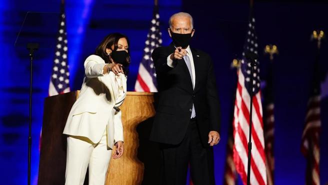 El presidente electo de EE UU, Joe Biden, junto a su vicepresidenta Kamala Harris.