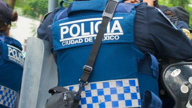 Un agente policial en Ciudad de México, en una imagen de archivo.