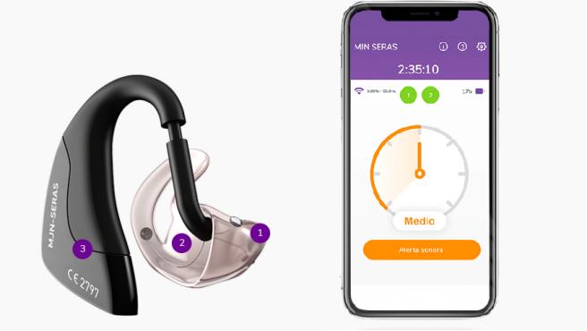 Auricular y aplicación para detectar precozmente ataques de epilepsia.