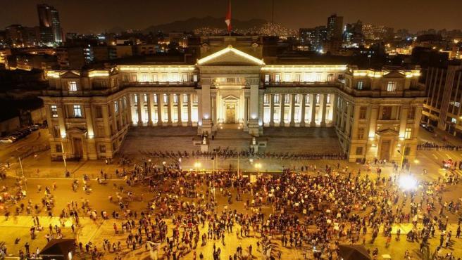 Protestas en Perú de este sábado.