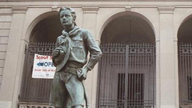 Una estatua dedicada a los Boy Scouts en Filadelfia, EE UU.