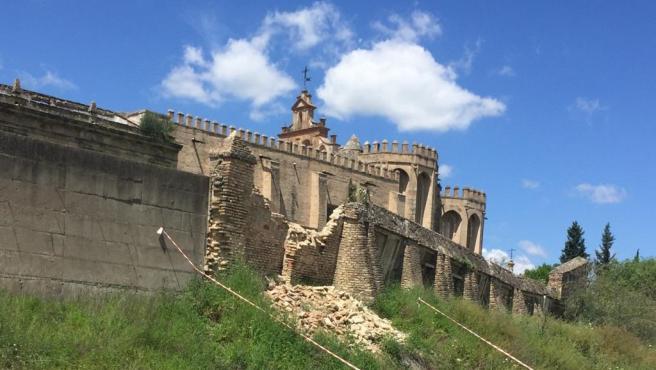 Derrumbe en el monasterio de Santiponce