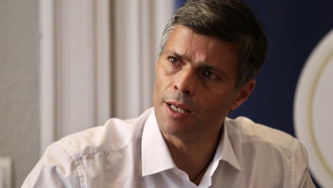 Leopoldo López, durante la entrevista.