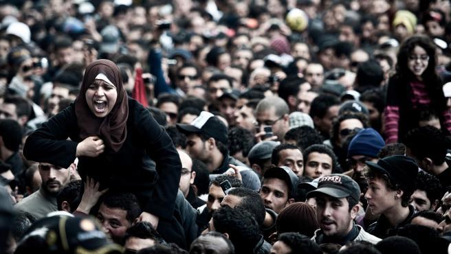 Una manifestación durante la Primavera Árabe.