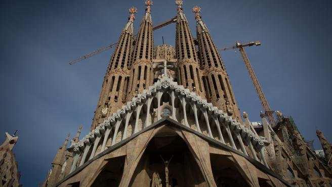 La Sagrada Familia, en Barcelona, Catalunya (España), a 16 de noviembre de 2020.