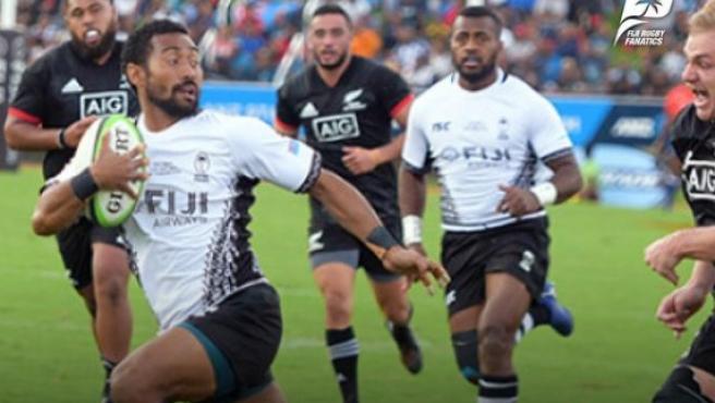 Jugadores de Fiyi, en un partido.