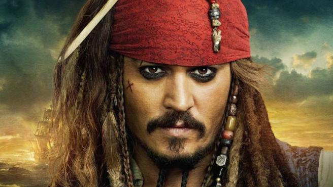 Johnny Depp como el Capitán Sparrow
