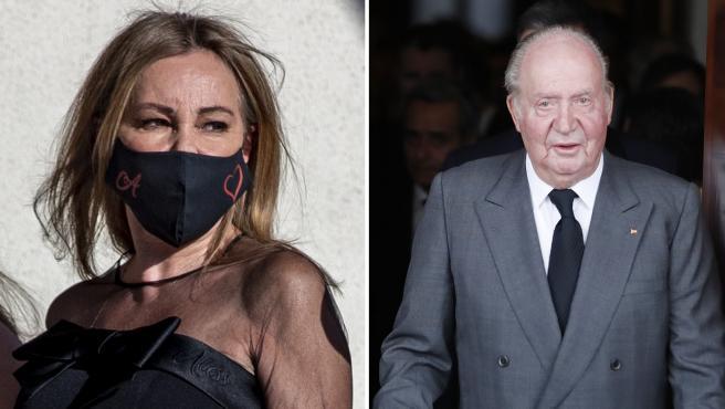 Ana Obregón y el rey Juan Carlos I en imágenes de archivo.