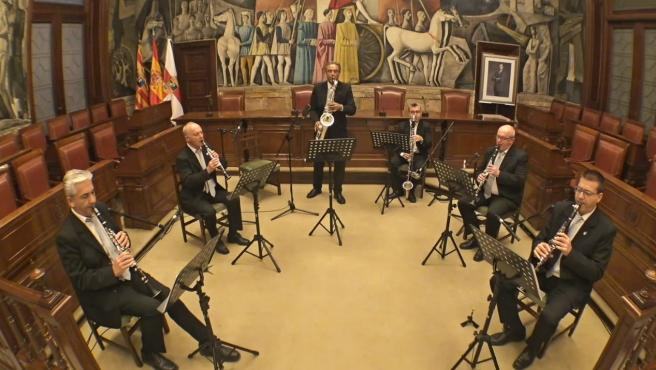 El grupo instrumental de la DPZ ofrece este domingo un concierto virtual por el día de Santa Cecilia.