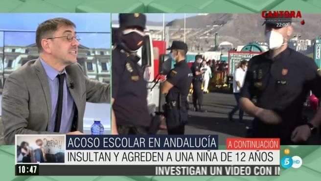 Juan Carlos Monedero, ex secretario de Podemos, en 'El programa de Ana Rosa'.