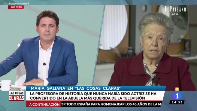 Jesús Cintora y María Galiana en 'Las cosas claras'.