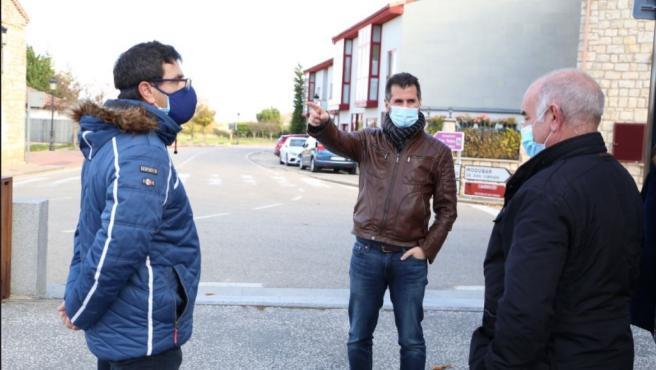 Luis Tudanca en su visita de este viernes a Carucedo (Burgos).