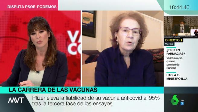 Margarita del Val durante su intervención en 'Más Vale Tarde'.