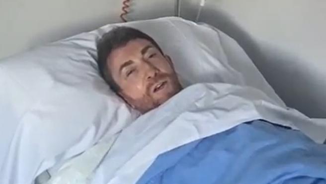 El presentador Pablo Motos, en el hospital.