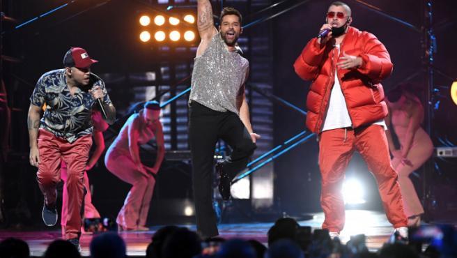 Residente, Ricky Martin y Bad Bunny en los Grammy Latinos.