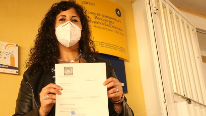 Sandra Heredia presenta su escrito