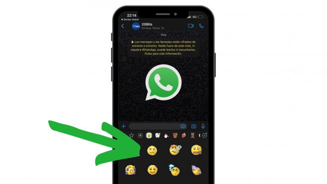 Los emoticonos del Messenger te aparecerán con el resto de tus stickers.