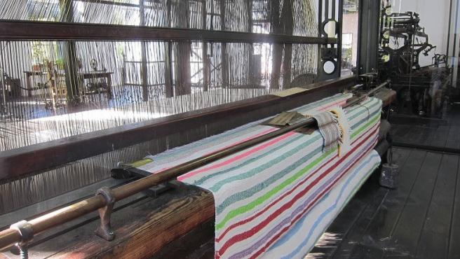 Centenario telar jacquard de La Encartada Fabrika-Museoa
