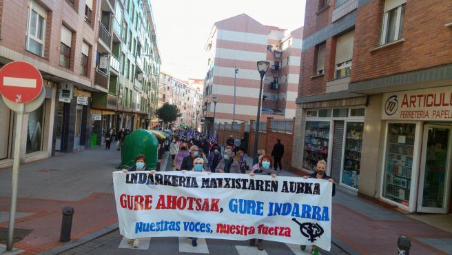 Movilización de mujeres de la margen Izquierda de Bizkaia contra la violencia machista