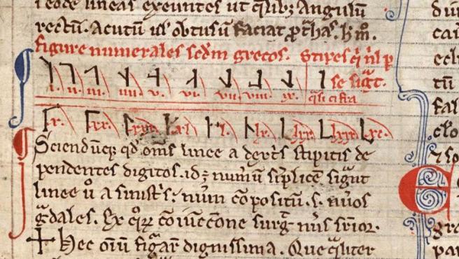 Representación de los números cistercienses.