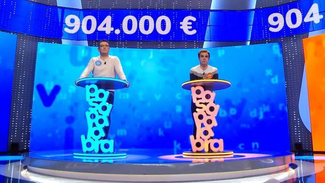 Luis y Pablo, en la prueba del Rosco de 'Pasapalabra'.